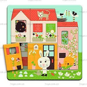Деревянная головоломка «Дом зайчат», DJ01480, купить