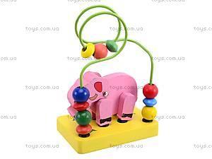 Деревянная головоломка «Животные», 5292, детские игрушки