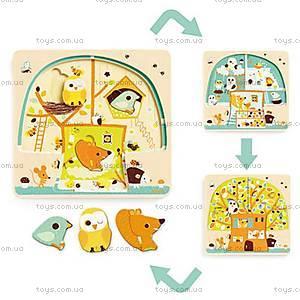 Деревянная головоломка «Кто на дереве живет?», DJ01481, купить