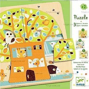 Деревянная головоломка «Кто на дереве живет?», DJ01481