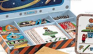 Деревянная игра-аппликация с молоточком «Космодром», DJ06642, фото