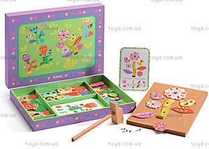 Деревянная игра-аппликация с молоточком «Сад цветов», DJ06643