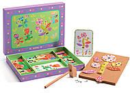 Деревянная игра-аппликация с молоточком «Сад цветов», DJ06643, купить