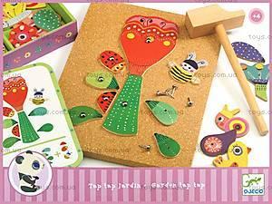 Деревянная игра-аппликация с молоточком «Сад цветов», DJ06643, отзывы
