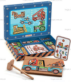 Деревянная игра-аппликация с молоточком «Транспорт», DJ06641