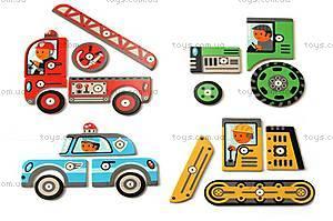 Деревянная игра-аппликация с молоточком «Транспорт», DJ06641, цена