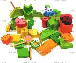 Деревянная игра «Цветочная поляна», DJ06389, фото