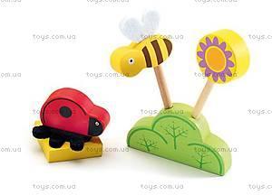 Деревянная игра «Цветочная поляна», DJ06389, игрушки