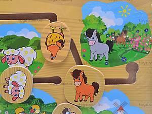 Деревянная игра «Домашние животные», 1129-E, фото