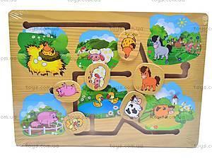Деревянная игра «Домашние животные», 1129-E