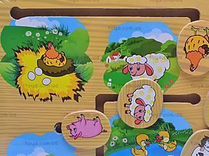 Деревянная игра «Домашние животные», 1129-E, отзывы