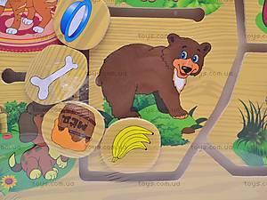 Деревянная игра «Кто что кушает?», 1129-D, фото