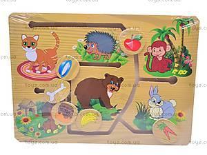 Деревянная игра «Кто что кушает?», 1129-D