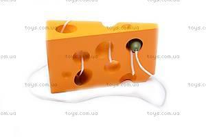 Деревянная игра «Мышка и сыр», W09-507, фото
