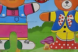 Деревянная игра «Одежда для мишки», W02-2629, фото