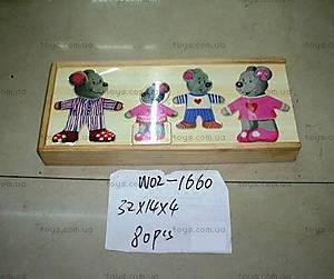 Деревянная игра «Одежда для мышки», W02-1660