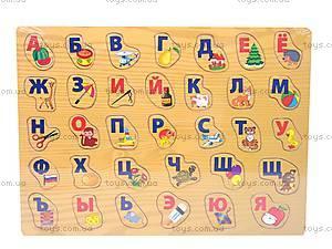 Деревянная игра-вкладыш «Алфавит», ABC-1142