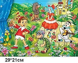 Деревянная игра-вкладыш «Буратино», BRT-1144