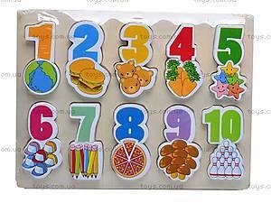 Деревянная игра-вкладыш «Цифры», W02-2737