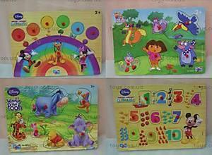 Деревянная игра-вкладыш «Дисней», DS01-04