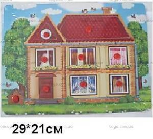 Деревянная игра-вкладыш «Домик», HOUSE-6297