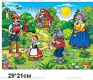 Деревянная игра-вкладыш «Красная шапочка», KRSH-1166