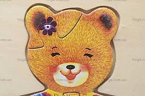 Деревянная игра-вкладыш «Мишка», MD0223, фото