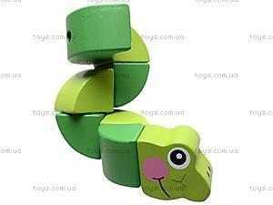 Деревянная игрушка-головоломка «Гусеница», W02-52, фото