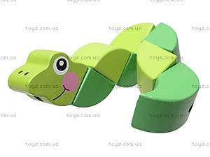 Деревянная игрушка-головоломка «Гусеница», W02-52, отзывы