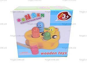 Деревянная игрушка «Логика», с молотком, W02-1420, детские игрушки