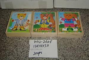 Деревянная игрушка «Одень мишку», W02-2628