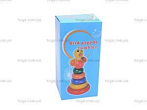 Деревянная игрушка «Пирамидка», 2011-82, игрушки