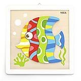 Деревянная картина с рыбкой, 50687, купить