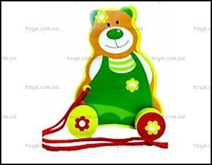 Деревянная каталка «Медведь», 13136026Р