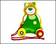Деревянная каталка «Медведь», 13136026Р, фото