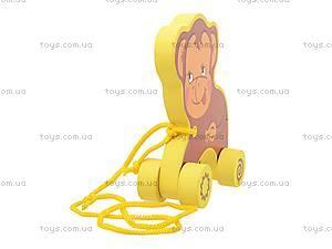 Деревянная каталка «Обезьянка», 8063-07, игрушки