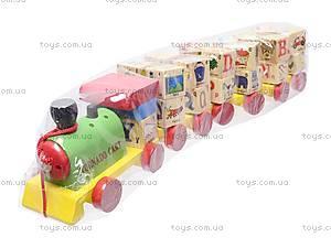 Деревянная каталка-паровоз, E21-1166, фото