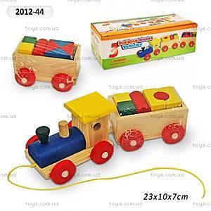 Деревянная каталка «Поезд-логика», 2012-44