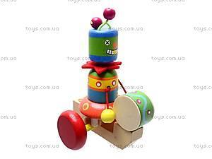Деревянная каталка с барабаном, BT-WT-0084, фото