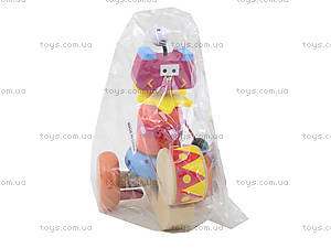 Деревянная каталка с барабаном, BT-WT-0084, детские игрушки