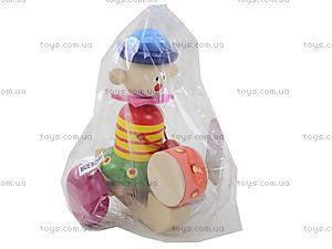 Деревянная каталка с барабаном, BT-WT-0084, магазин игрушек
