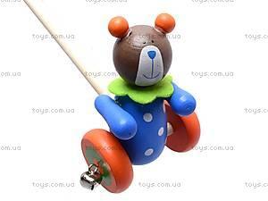 Деревянная каталка с бубенчиками, BT-WT-0097, игрушки