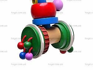 Деревянная каталка с пчелкой, 2594-12, игрушки