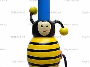Деревянная каталка с пчелкой, 2594-12, детские игрушки