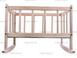 Деревянная кроватка для кукол, КРОВ_ДЛЯ_КУК