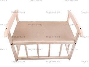 Деревянная кроватка для кукол, КРОВ_ДЛЯ_КУК, фото