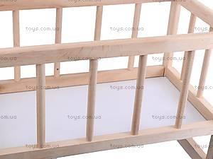 Деревянная кроватка для кукол, КРОВ_ДЛЯ_КУК, цена