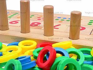 Деревянная пирамида-домино, W02-4472, детские игрушки