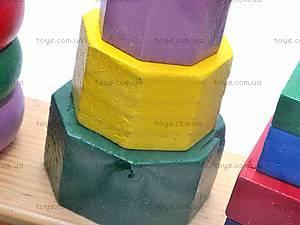 Деревянная пирамида геометрическая, 2594-3, отзывы