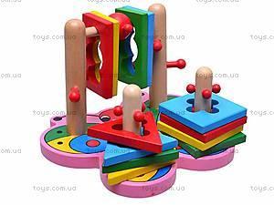 Деревянная пирамидка для детей, MD0335